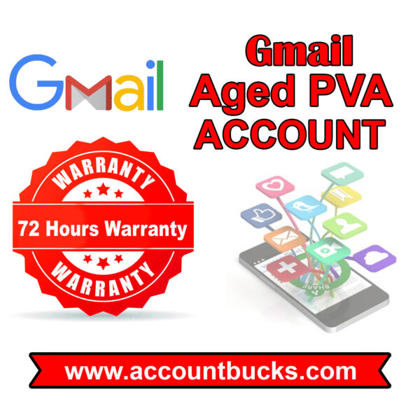 Golden Plan-25 Gmail PVA Accounts (4 Years+ Aged)