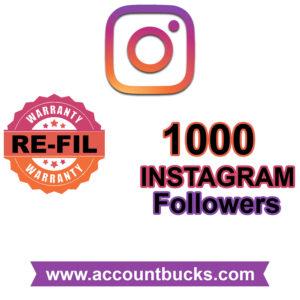 Basic Plan: 1000 HIGH QUALITY Instagram Followers