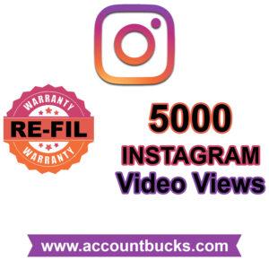 Premium Plan: 5000 Instagram Video Views