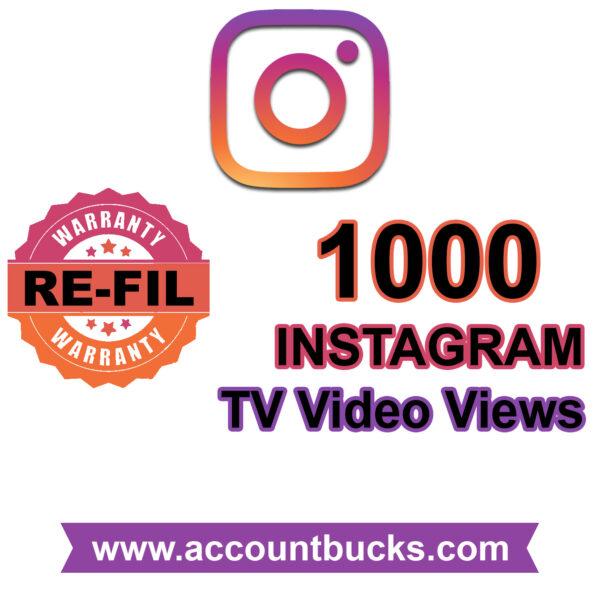 Basic Plan: 1000 Instagram TV Views