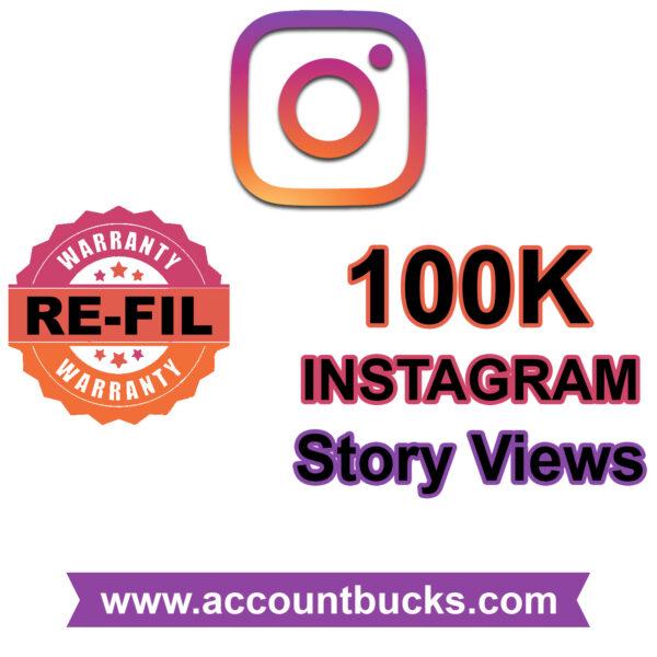 Premium Plan: 100k Instagram Story Views: All Stories