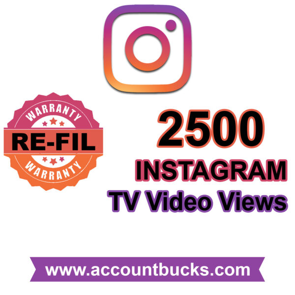 Standred Plan: 2500 Instagram TV Views