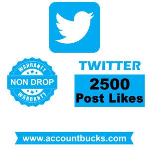 Standard Plan: 2500 Twitter Post/Pic Likes