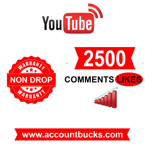 Standard Plan: 2500 Youtube Comments Likes